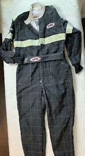 New listing Vintage Gearbox Racing Black Check Coveralls Belted Waist Men Size 56