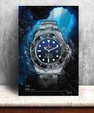 Rolex Sea Dweller 116660 watch print. Bold graphic art on canvas