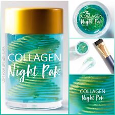 NEW SeneGence COLLAGEN NIGHT PAK Anti-Aging Sleeping Mask W/ Brush Full Size