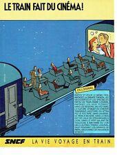 PUBLICITE ADVERTISING 0217  1984   SNCF le train par Serge Clerc