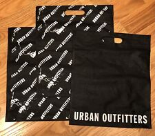 "NWOT Urban Outfitters Logo 17.5"" x 15"" Tote Bag Reusable Shop ~ Black / White"
