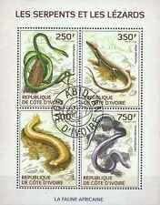 Timbres Reptiles Cote d'Ivoire 1342/5 o année 2014 lot 14622
