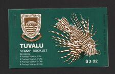 TUVALU 1979 STAMP BOOKLET SB2 FISH MNH BLKS 4 (SG110/113/115/117) VERY FINE