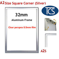 TCS High quality AS Silver Snap Frame Square Corner/ Poster Frame/ Display 32mm
