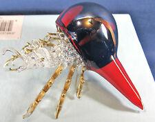 Hermit Crab Hand made glass Figurine Burgundy w/ Gold Highlights Sealife decor