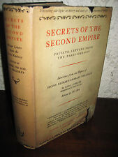 1st Edition SECRETS SECOND EMPIRE Private Letters HENRY RICHARD WELLESLEY