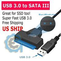 "USB 3.0 to 2.5"" SATA III Hard Drive Adapter Cable/UASP -SATA to USB3.0 Converter"