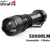 Ultrafire 50000LM Q5 LED Flashlight Zoomable Mini Torch Light Lamp AA/14500 Hike