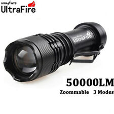 Ultrafire 50000LM Q5 LED Flashlight Zoomable Mini Torches Light Lamp AA 14500  _