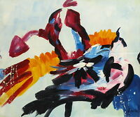Gemälde - abstrakt - handgemalt Leinwand Acryl Malerei modern Farben Formen naiv