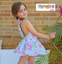 SEWING PATTERNS PAPER PATTERN Printed Playsuit & skirt Romper Dress Baby girl