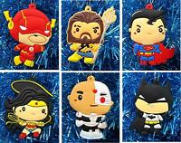 Super Hero Justice League Holiday Christmas Tree Ornament 6 Piece Set