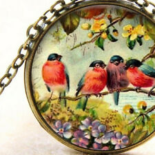 Robbin Red Breast, Swallow Birds, Bronze Cabochon New Pendant Necklace Jewellery