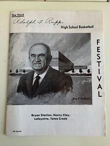 1978 Kentucky High School Basketball Adolph Rupp Festival Program Melvin Turpin