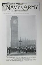 1903 PRINT WESTMINSTER THIRD OPENING OF PARLIAMENT BY THE KING