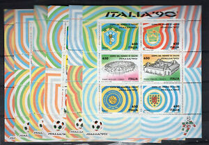 ITALY SOCCER W/CUP '90, YV # BL 4/9, MNH