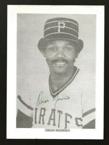 Omar Moreno Autographed Pittsburgh Pirates 5x7 Photo