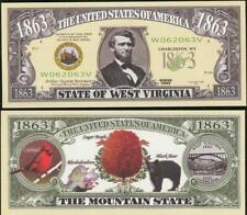 Bankbiljet billet Amerikaanse staten - West Virginia 1863