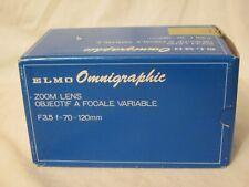 ELMO Omnigraphic Zoom Lens F 3.5 f=70 120mm