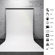 Photography Wall Backdrop Studio Photo Props Vinyl Solid White Background 5x7FT