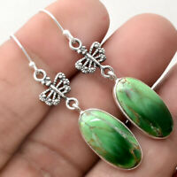 Australian Variscite 925 Sterling Silver Handmade Earrings Jewelry SDE21616