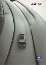 Peugeot 407 SW car for China market _2006 Prospekt / Brochure