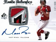 2008 MATT RYAN SP AUTHENTIC ROOKIE 4 COLOR PATCH AUTO 137/499 FALCONS !