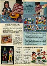 1975 ADVERTISEMENT Figures Ceramic Frankenstein Wolfman Mickey Donald Pluto Kit