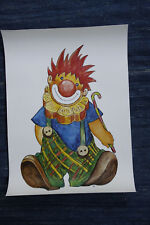 Poster Plakat  Lachender Clown,Kinderzimmer,Neu,new,smiling clown, 44,5x31,5 cm