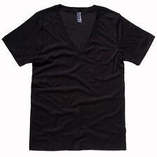 Cotton Basic T-Shirts for Men Deep V