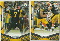 2019 PANINI PLAYOFF FOOTBALL Ben Roethlisberger James Conner Pittsburgh Steelers