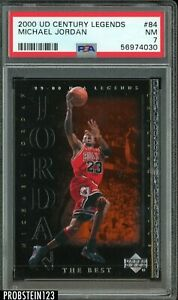 2000 UD Century Legends #84 Michael Jordan Chicago Bulls HOF PSA 7 NM