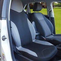 Universal Grey Heavy Duty Cotton Car Seat Cover Waterproof Protectors Van Front