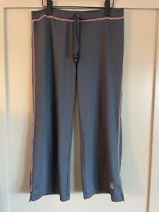 Life Is Good Tech Women's Capri Pants Dark Blue And Pink Size Medium Loungewear