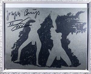Joseph Beuys # Druck auf Papier,original handsigniert # original hand signed