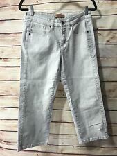 Lee Pants Women's Size 7/8 One True Fit Khaki Cropped Capri Casual Summer Wear