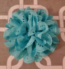 "New listing 4"" Turquoise Eyelet Dog Collar Flower"
