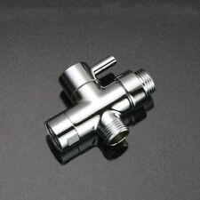 """Brass 3 Way Diverter Tee Connector Adapter 1/2"""" T-adapter Shut off Valve Shower"""