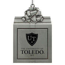 University of Toledo -Pewter Christmas Holiday Ornament-Silver