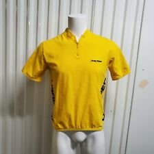 VTG Tommy Hilfiger Athletic Spell Out Yellow Bike Cycling Jersey Shirt XL