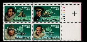 ALLY'S STAMPS US Plate Block Scott #2386-9 25c Antarctic Explorers [4] MNH [STK]