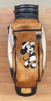Belding Sports Walt Disney Company Mickey Mouse Blue & Tan Leather Golf Bag