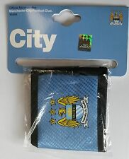 (ACC544) Official Manchester City Canvas Wallet brand new perfect gift