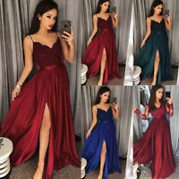 Women Bridesmaid Wedding Long Skirt Evening Cocktail Party Ball Prom Gown Dress