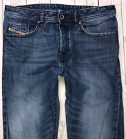 Mens DIESEL Buster Jeans W31 L34 Blue Regular Slim Tapered Wash 0838B