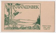 1930s CAMP KUHNAWAUMBEK Booklet CONVENE MAINE Lois Mann WABAN Newton WHITE PINES