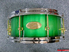 """Handschuh Maple Air Ply Special Snaredrum in """"Green Burst High Gloss""""  -  13x6"""""""
