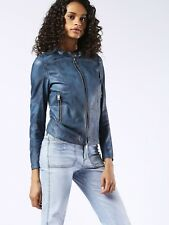 Diesel Women's L-Lory Jacket Size XS Blue $698 Dl5