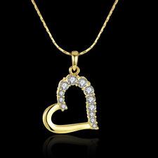 ASAMO Damen Halskette mit Herz Anhänger und Zirkonia Steinen Herzkette Kette