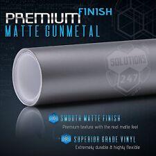"12"" x 60"" In Matte Flat Gunmetal Vinyl Wrap Sticker Decal Bubble Free Air"
